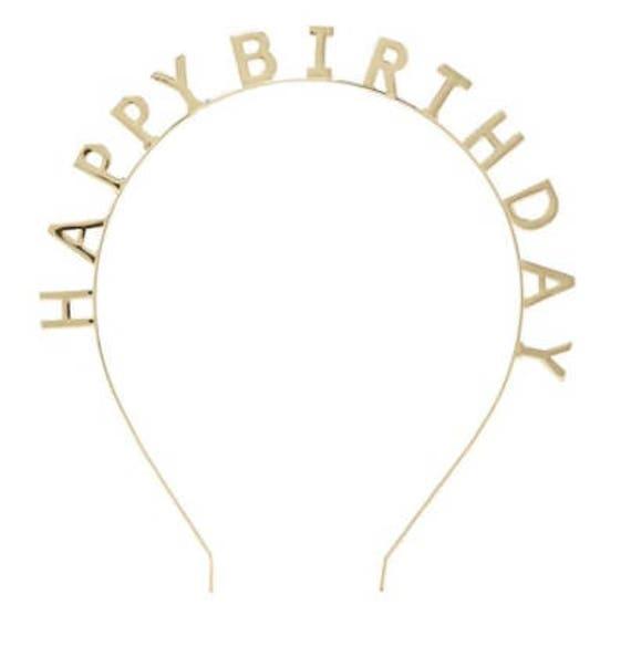 Sale HAPPY BIRTHDAY HEADBAND Rose Gold Or Gold Crown Tiara