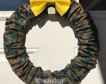 Military Wreath - Camo Wreath - Support Our Troops - Home Decor