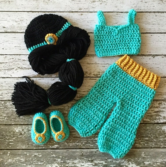 Princess Jasmine Inspired Costume/ Crochet