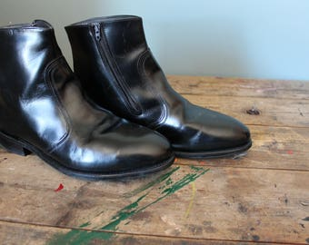 Vintage Leather Boots   Chelsea Boots   Ankle Boots   LeHigh Brand   Size 11   Safety Shoes