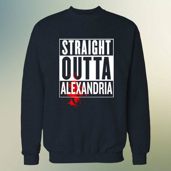 """The Walking Dead """"Straight Outta Alexandria"""" Sweater S-3XL Available TWD"""