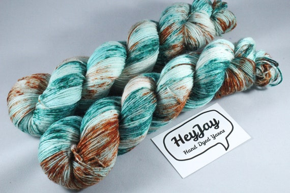 Hand Dyed Sock Yarn Superwash Merino/Nylon - Submarine