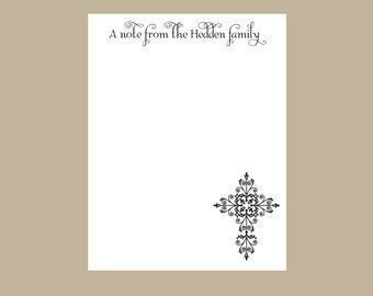Cross Notepad, A note from, Teacher gift, stocking stuffer