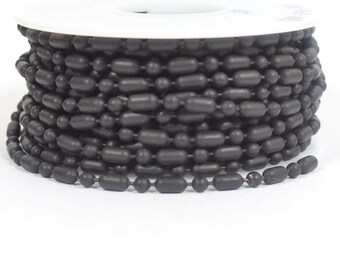 Ball and Bar Chain - Midnight Black - 3.2mm - Choose Your Length