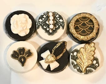 Great, Gatsby, Chocolate Covered Oreos, White Gold and Black
