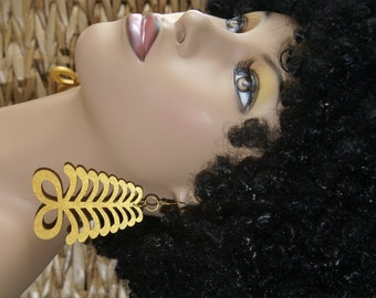 Adinkra Symbol Earrings- Aya Gold