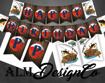 Fishing Birthday Banner - Fishing Party Banner - Fishing Birthday Decorations - Fishing Birthday - Fishing Birthday Party