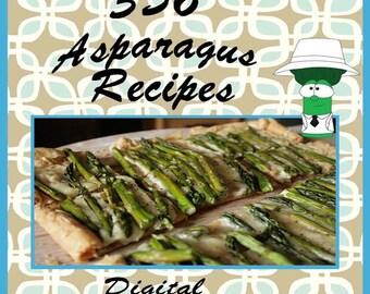 356 Asparagus Recipes E-Book Cookbook Digital Download