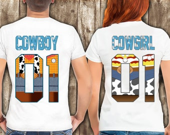 Disney Woody Jesse PIXAR Couples Collection, TOY STORY Couple shirt set, Disney Style T Shirts - Shirts for Couples