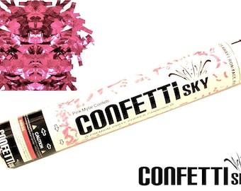"12"" Pink Mylar Confetti Cannon | Wedding Favor | Party Popper | Smoke Alternative | Balloon Alternative | Table Decor"