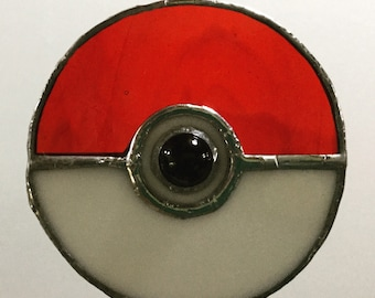 Stained glass pokeball - a perfect pokemon fan gift!