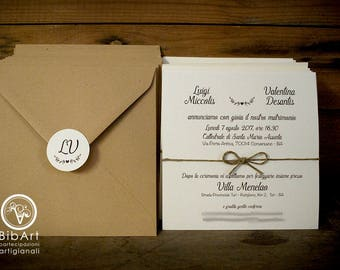100 pieces full Wedding invitations-participation Country Wedding invite