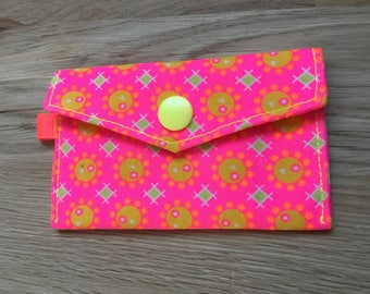Neon bubble pattern Petit Pan holder pouch