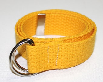 Yellow Cotton Adjustable Belt for Children/Toddlers