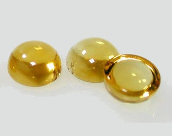 1pc x Round 10mm Citrine Cabochon Natural Gemstone (CITRDCB10)