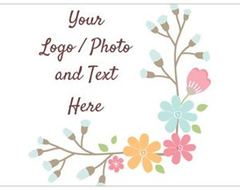 """12"""" x 18"""" Small Lawn Sign Use Own LOGO or PHOTO Design Custom Personalized Quantities 1-200"""