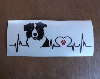 Border Collie Decal-dog lover gift-dog breed-gift for dog lover-dog stickers-dog decal-car decal- pet decal-gifts for dog lovers-dog gift
