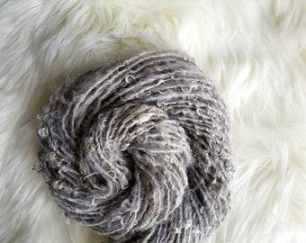 4 oz Farm Fresh Art Yarn, Leicester Longwool Handspun Lockspun Yarn, 78 yds