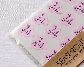96 Thank You Stickers, Thank You Calligraphy Stickers, Calligraphy Labels, Pink Stickers, Calligraphy Stickers, Wedding Stickers