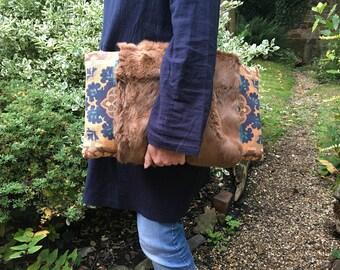 Vintage Fur Clutch Bag + Pocket Detail