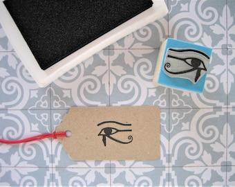 EYE OF HORUS Stamp. Horus Eye Stamp. Eye of Horus. Horus Eye. Eye of Horus Rubber Stamp. Left Eye. Lunar Eye. Wedjat Eye. Egyptian Symbol