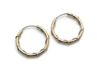 Wire Wrapped Hoops, Hoop Earrings, Gold Hoop Earrings, Wire Wrap Earrings, Gold Hoops, Wrapped Hoop Earrings, Sleeper Hoops, Gold Earrings