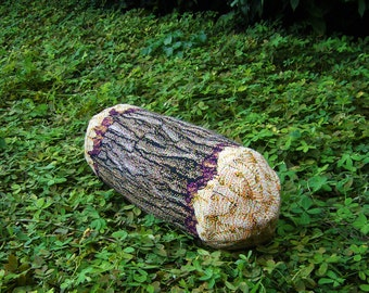 Short Cottonwood Tree Log Bolster Pillow - Free shipping world-wide