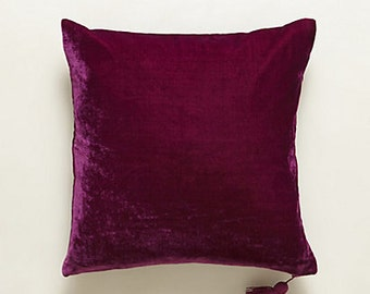Anthropologie inspired 24x24  gold or burgundy velvet pillow cover available in other sizes