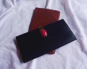 Vintage Leather Slim Card / Cash / Letter Wallet