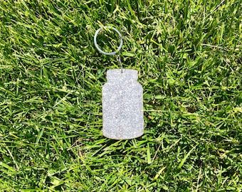 Mason Jar Glitter Key Chain