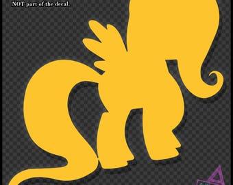 My Little Pony ~ Fluttershy Silhouette - Vinyl Sticker