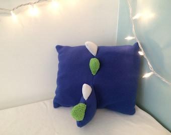 Dinosaur spike pillow