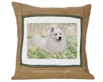 American Eskimo Dog Throw Pillow, American Eskimo Dog Gift, American Eskimo Dog Pillow, American Eskimo Dog