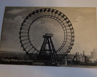 the big wheel earls court london 1896 postcard