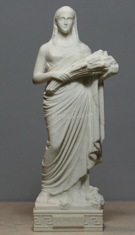 Demeter Ceres Harvest Fertility Goddess Greek Alabaster Statue