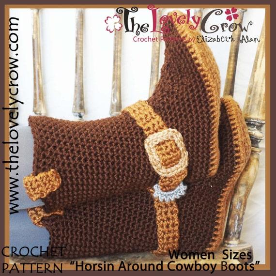 Cowboy Boots Crochet Pattern WOMEN
