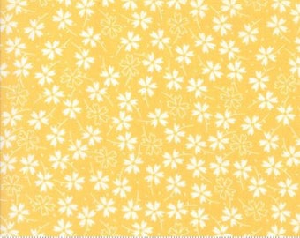 Flower Pansies in Buttercup by Corey Yoder... Lulu Lane .. Moda fabrics ..  29023 13 half  yard cut