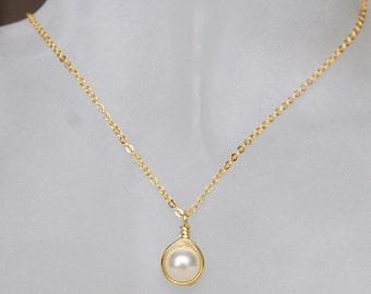 Cream Pearl Necklace , June Birthstone Necklace , Bridesmaids Necklace , Swarovski Pearl Necklace