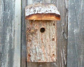 Bird house, nesting box,reclaimed bird box