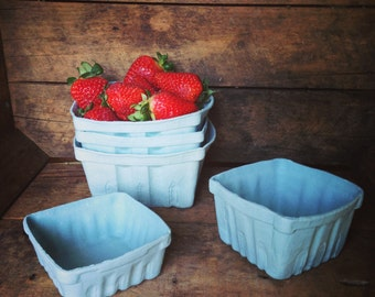 Porcelain Berry Basket- Set of 3 (Lg,Md,Sm)