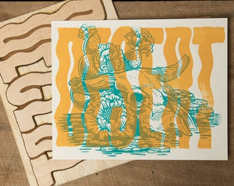 Desert - Block Print