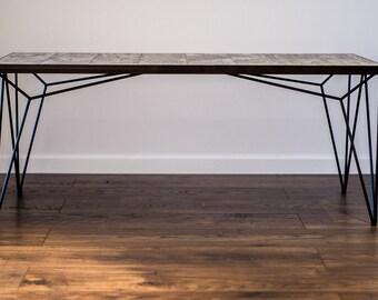Coffee Table, rectangle coffee table, modern coffee table, living room table, hairpin leg coffee table