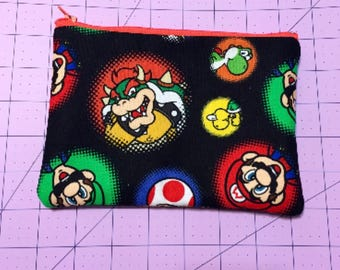 Mario Bros makeup bag