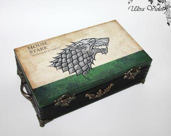 Exclusive tea box, tea,  tea bag,  box, wood,Game of Thrones,Stark, Winter is coming