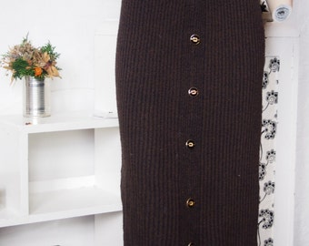 Brown woolen skirt size (xs-s)