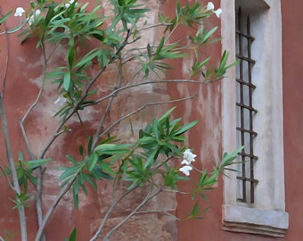 French Window with Leaves