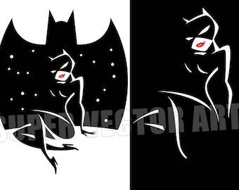 CatWoman Batman Vector Logo