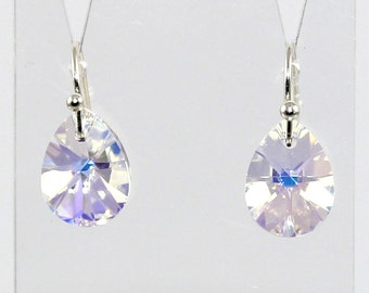 Mini Pear Earrings - Swarovski© Crystal - Silver Plated / Gold Plated / Rose Gold Plated