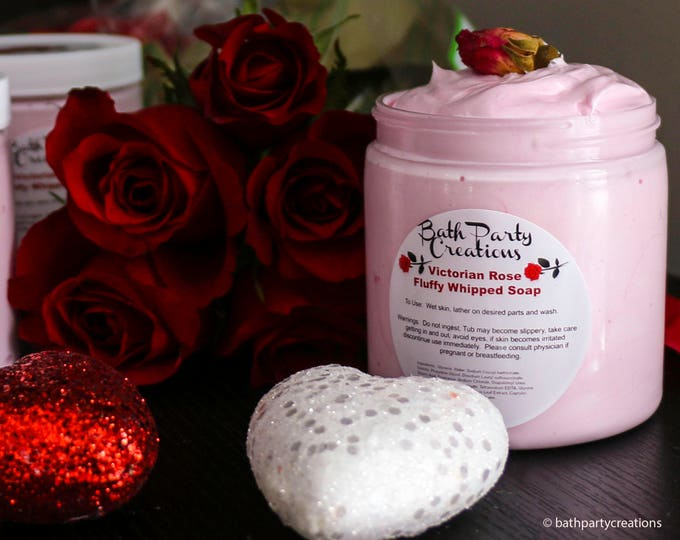 Victorian Rose Fluffy Whipped Soap, perfect Easter/Mother's Day Gift, Shower Soap, Soap Frosting, Whipped Soap, Shaving Cream, Hand Soap,