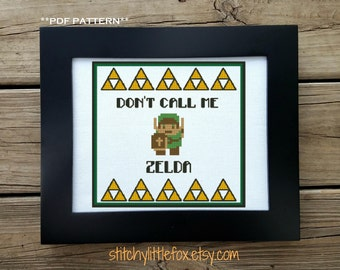 Zelda Cross Stitch Pattern, Link Xstitch, Gamer Cross Stitch, Geeky Embroidery, Classic Gaming, Legend Of Zelda, Nerdy Needlepoint Pattern